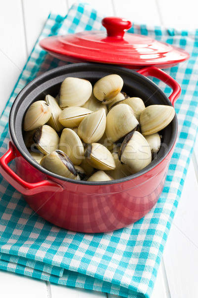 raw clams in pot Stock photo © jirkaejc