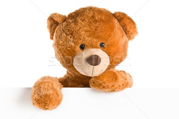 teddy bear behind whiteboard Stock photo © jirkaejc