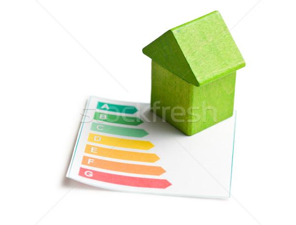 Bois maison efficacité énergétique vert jouet pouvoir Photo stock © jirkaejc