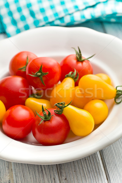 Stock photo: colorful tomatoes in bowl