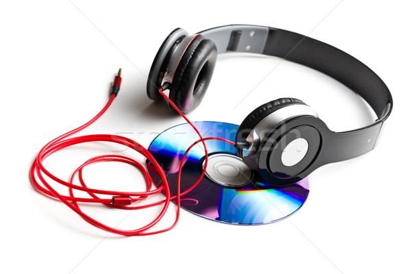 black headphones with cd Stock photo © jirkaejc