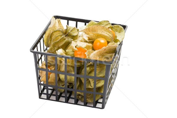 Fruto branco comida folha laranja cor Foto stock © jirkaejc