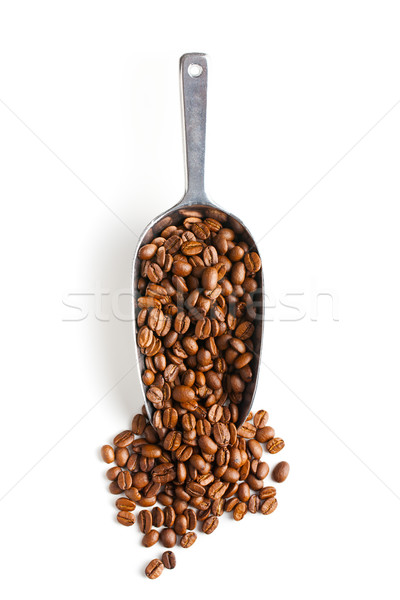 metal scoop with coffee beans Stock photo © jirkaejc