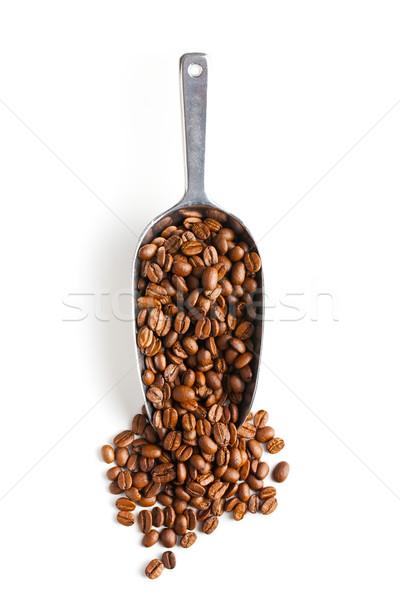 Metal raccogliere chicchi di caffè bianco alimentare caffè Foto d'archivio © jirkaejc