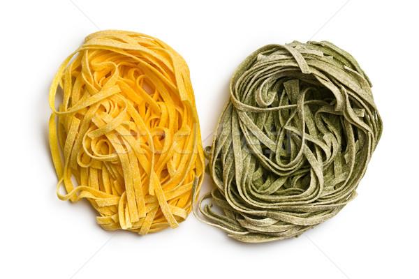 итальянский пасты тальятелле белый фон обеда Сток-фото © jirkaejc