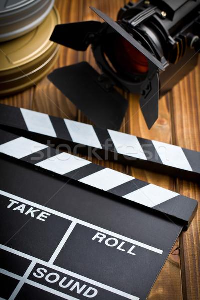 Сток-фото: совета · фильма · свет · деревянный · стол · таблице · кино
