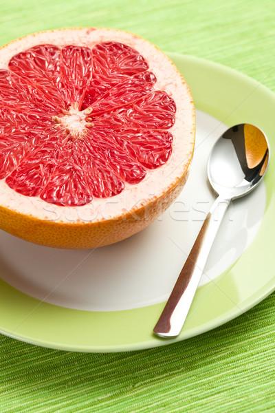 Stockfoto: Rood · grapefruit · keukentafel · kleur · huid