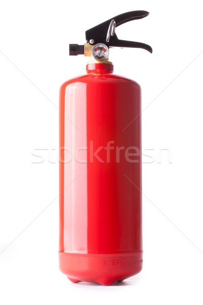 Yangın söndürücü beyaz yangın güvenlik tehlike acil durum Stok fotoğraf © jirkaejc