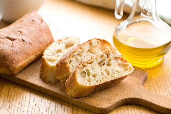 sliced ciabatta bread Stock photo © jirkaejc