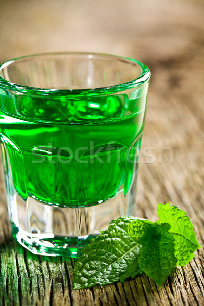 green mint liquor Stock photo © jirkaejc