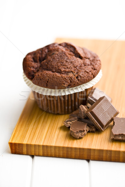 chocolate and chocolate muffin Stock photo © jirkaejc