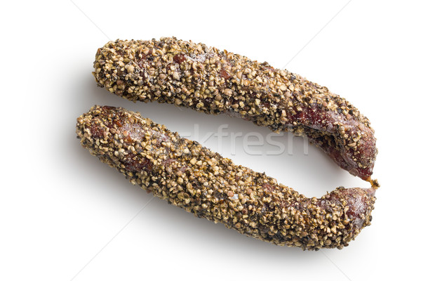 dried sausage with peppercorn Stock photo © jirkaejc