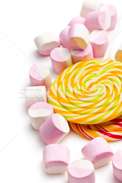 sweet marshmallows and lollipop Stock photo © jirkaejc