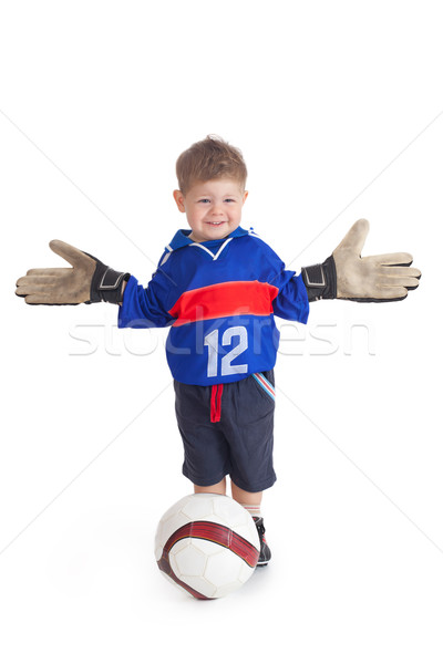 young footballer Stock photo © jirkaejc