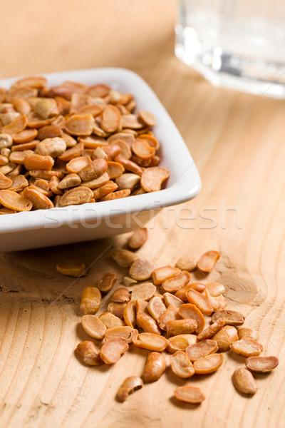 roasted soya beans on wooden table Stock photo © jirkaejc