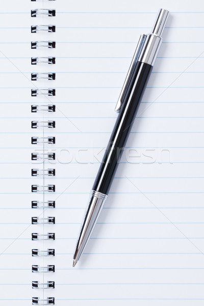 Stock foto: Schwarz · Stift · Notebook · Foto · erschossen · Business