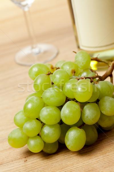 Foto stock: Uvas · vinho · branco · foto · tiro · comida · jardim