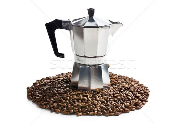 кофеварка кофе белый кофе металл кухне Сток-фото © jirkaejc