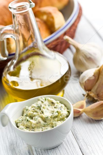 Kraut Butter Schüssel weiß Küchentisch Öl Stock foto © jirkaejc