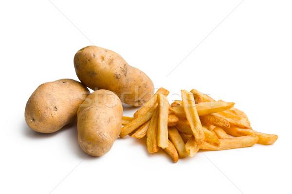 Pommes de terre frites françaises blanche fond manger déjeuner Photo stock © jirkaejc