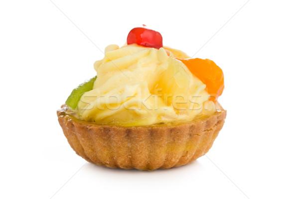 Fruitcake beker cake smakelijk vruchten groene Stockfoto © jirkaejc