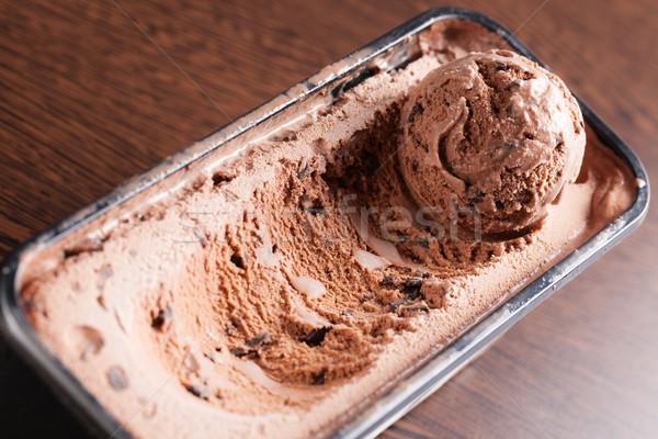 çikolata dondurma fotoğraf atış doku gıda Stok fotoğraf © jirkaejc
