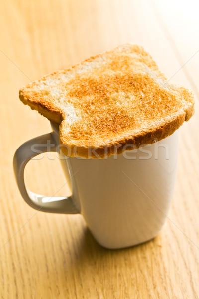 Pirított kenyér kávésbögre reggeli csoport vacsora Stock fotó © jirkaejc