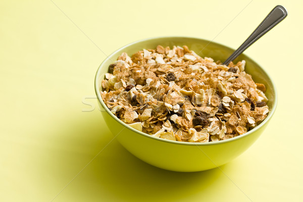 Müzli kerámia tál színes étel reggeli Stock fotó © jirkaejc