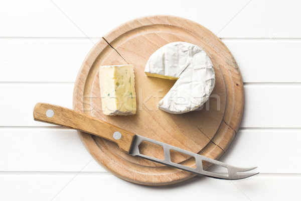 blue cheese on cutting board Stock photo © jirkaejc