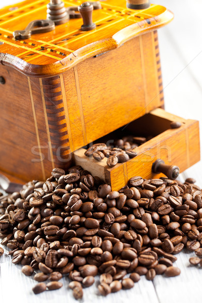 Stock photo:  antique coffee mill