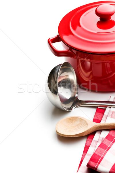 Konyhai felszerelés fehér étterem csoport szakács szín Stock fotó © jirkaejc