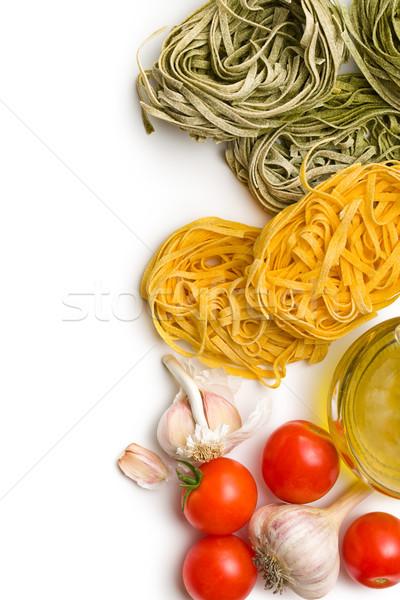 тальятелле помидоров чеснока белый продовольствие фон Сток-фото © jirkaejc