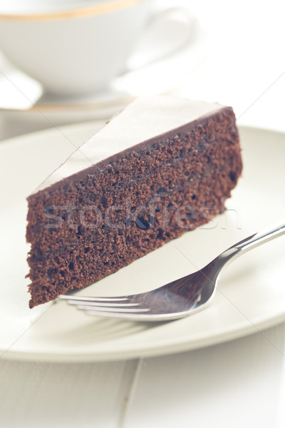 one piece of sacher cake Stock photo © jirkaejc
