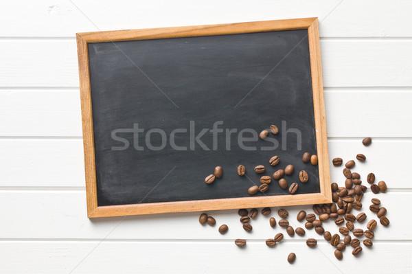 chalkboard and coffee beans Stock photo © jirkaejc