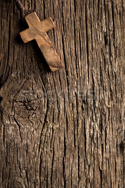Bois croix vieux amour bois prier Photo stock © jirkaejc
