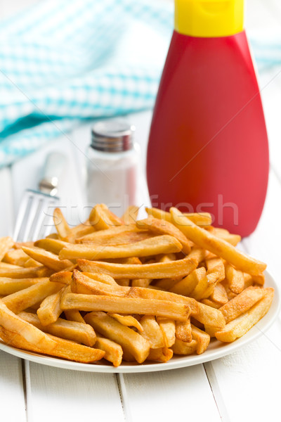 french fries on plate Stock photo © jirkaejc