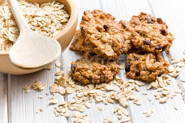 домашний Cookie овсяный Sweet продовольствие Сток-фото © jirkaejc