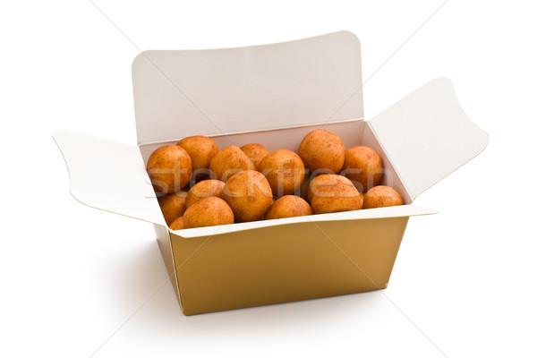 Marcipán golyók ajándék doboz csoport labda cukorka Stock fotó © jirkaejc