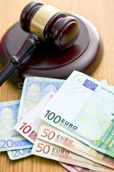 judge gavel and euro currency Stock photo © jirkaejc