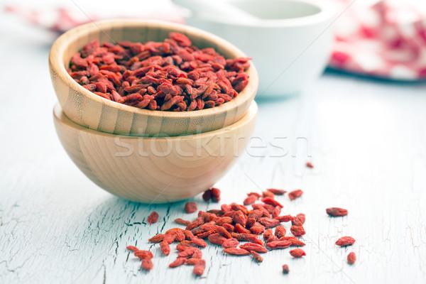 Kurutulmuş karpuzu eski tablo kırmızı Asya Stok fotoğraf © jirkaejc