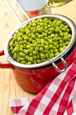 Stockfoto: Groene · erwten · kom · natuur · salade