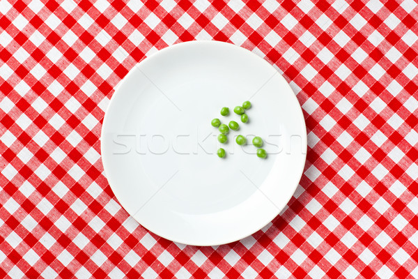 新鮮な 緑 エンドウ 白 プレート 食品 ストックフォト © jirkaejc