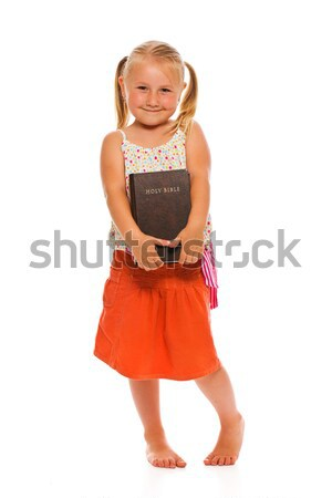 little girl with holy bible Stock photo © jirkaejc