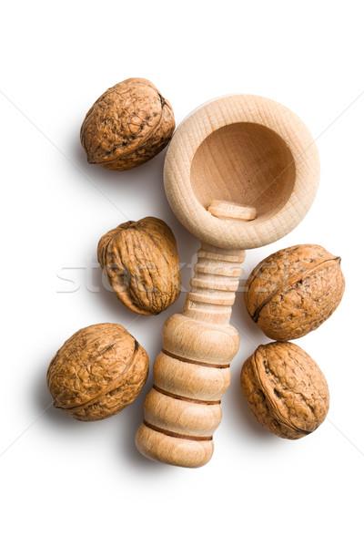wooden nutcracker and walnuts Stock photo © jirkaejc