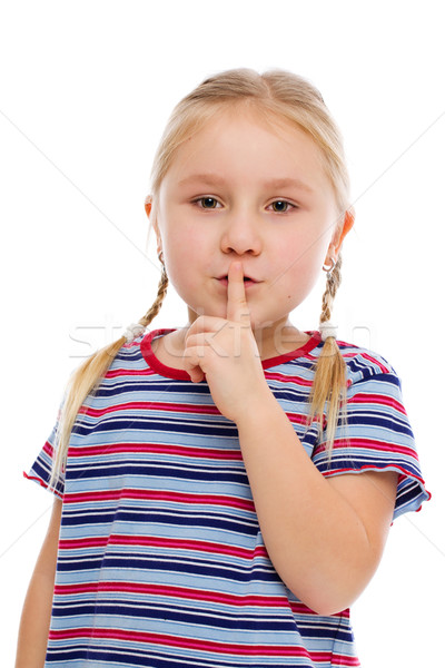女の子 沈黙 にログイン 顔 ストックフォト © jirkaejc