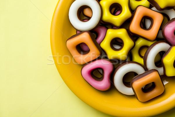 Kolorowy wyroby cukiernicze różny górę widoku Zdjęcia stock © jirkaejc
