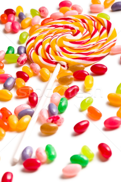colorful lollipop with jelly beans Stock photo © jirkaejc