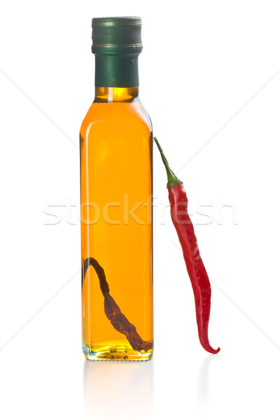 olive oil with chili peppers Stock photo © jirkaejc
