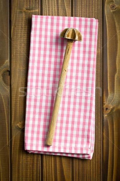 stirring spoon with checkered napkin Stock photo © jirkaejc
