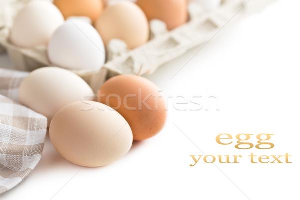 chicken eggs Stock photo © jirkaejc